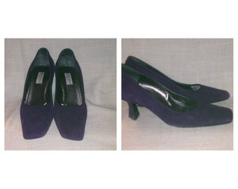 Vintage Bruno Magli Purple Suede Pumps