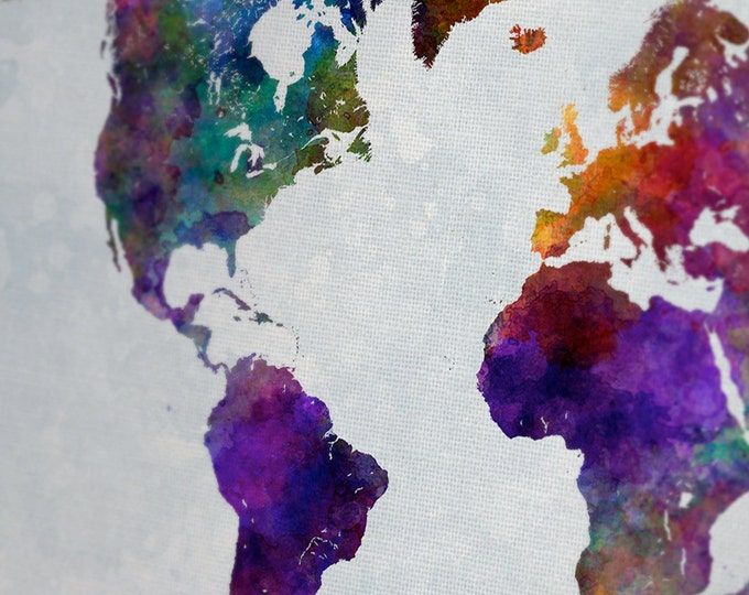 Colorful World Map Art.15 Off Coupon On Colorful World Map Art Canvas Poster Set