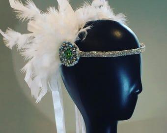 1920s Charleston Festival Feather Headpiece