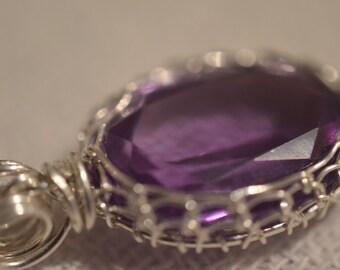 Amethyst charm 925 Silver