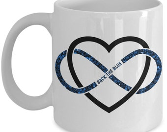 Thin Blue Line Mug - Back The Blue - Police Mug