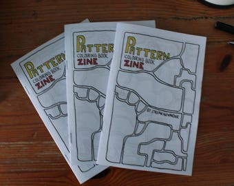 Pattern Colouring book zine