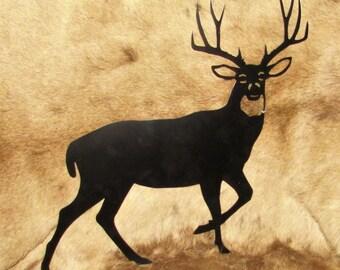 Mule Deer, Deer, Sportsman, Hunter, Metal Art, Wall Hanging, Handmade