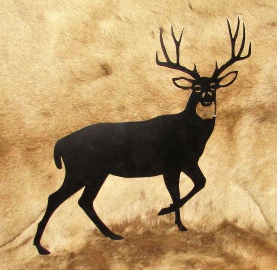 Mule Deer Deer Sportsman Hunter Metal Art Wall Hanging