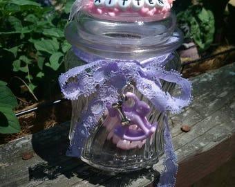 Made to order custom trinket jar-ddlg paci jar-bdsm abdl ddlg-kitten play-trinket jar-gift for her