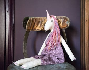 Heirloom Unicorn Doll Plum