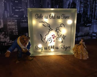 Beauty and beast light box