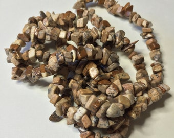 PICTURE JASPER BEAD Chips