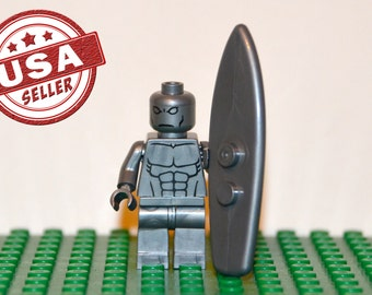 Silver Surfer Custom minifigure (Lego Compatible) Marvel Comics Superhero Fantastic Four 4 Secret Wars Norrin Radd villian Christmas Gift