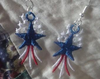 FSL Machine Embroidery Earrings