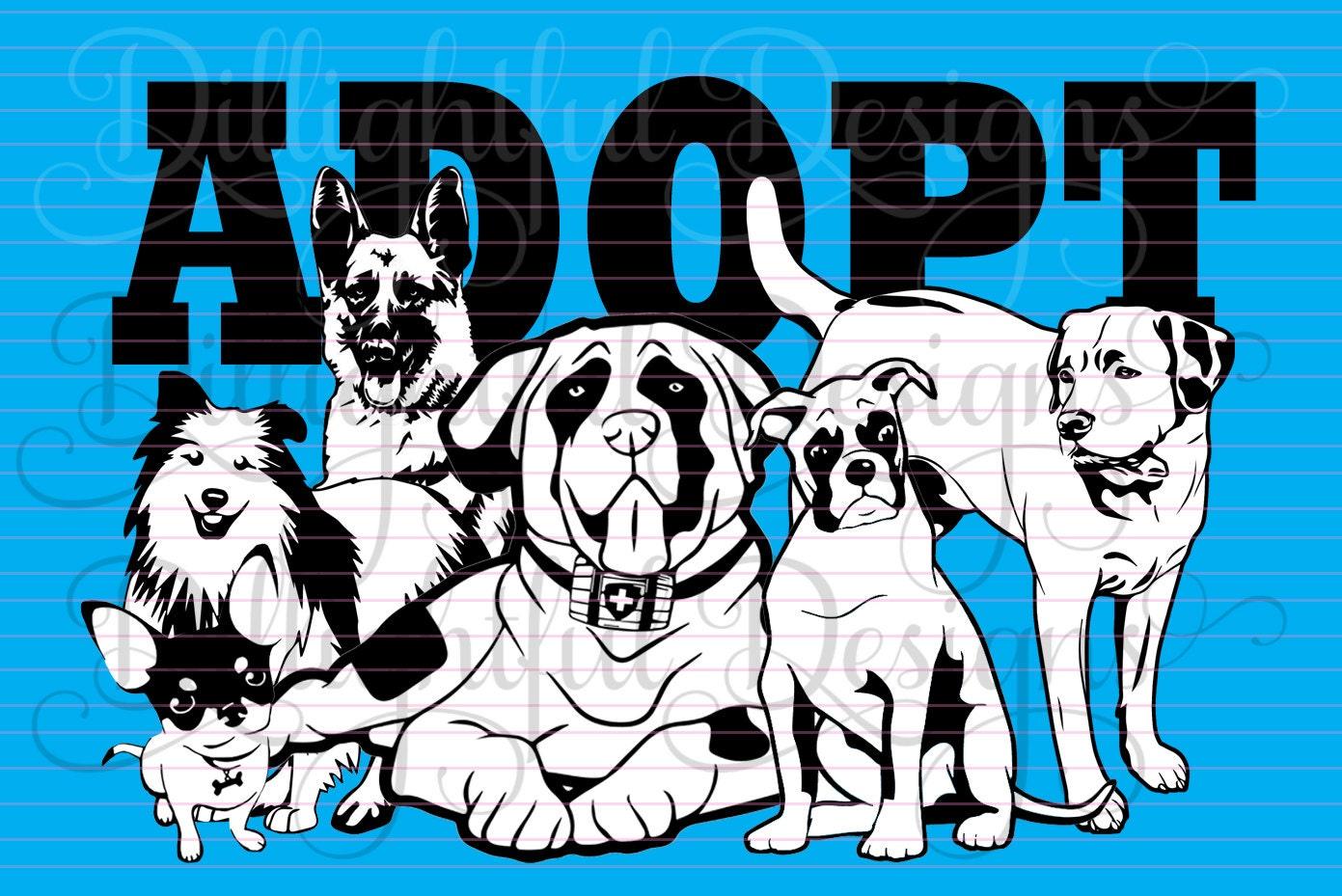 Sheltie Animal Rescue Pet Adoption Adopt a DOG SVG Decal Digital
