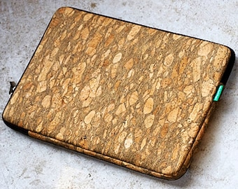 Landmade Cork Laptop Sleeve - Sustainably Harvested, Water Resistant - Sale 70% Off Original Price