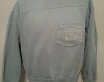 Vintage 90's Sage Mint Green Dockers Pocket Sweat Shirt Size Large Made In USA