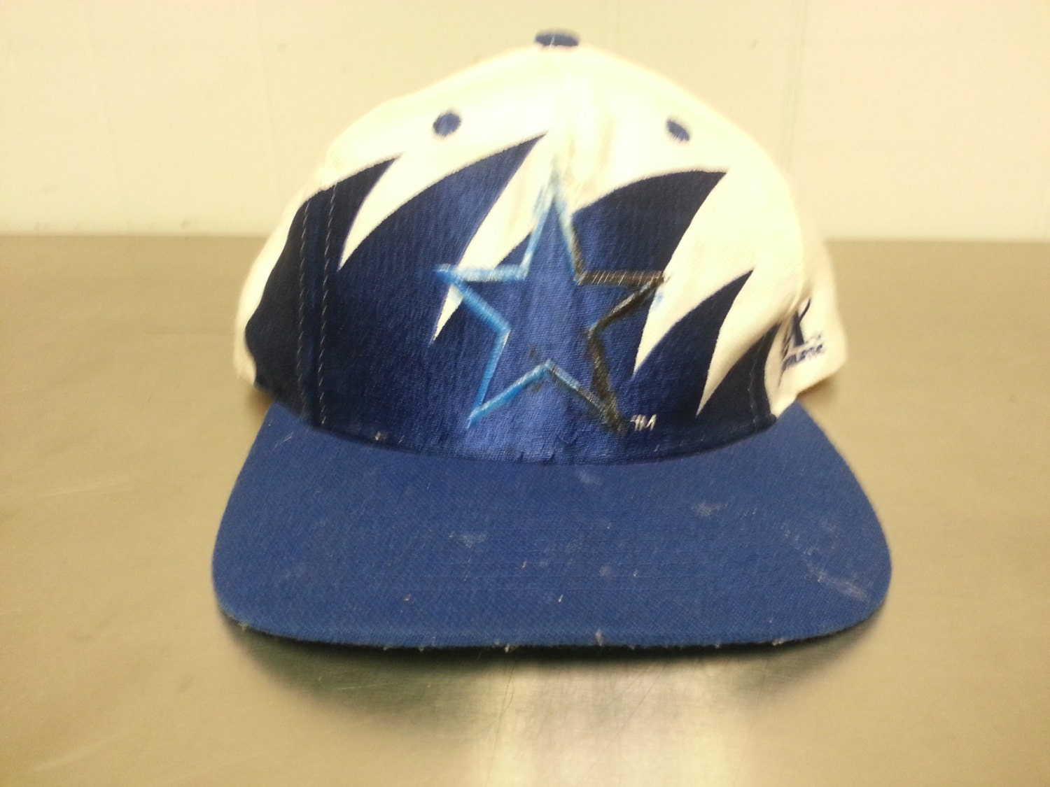 0b41df98739828 coupon code for vintage 90s logo athletic dallas cowboys nfl football shark  tooth wool snapback hat