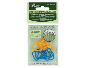Clover Stitch Markers Triangle Large, Triangle Stitch Markers, Knit Markers