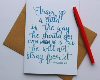 Teacher Card - Proverbs - Christian Greeting Card - 5x7