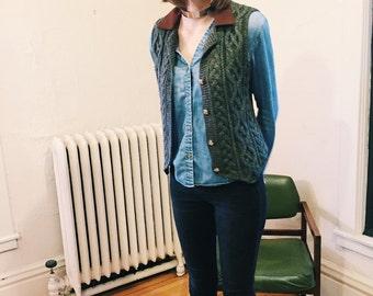 Vintage Knit Sweater Vest
