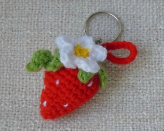 Strawberry and Margarita to the hook keychain