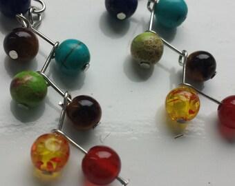 7 chakras healing earrings