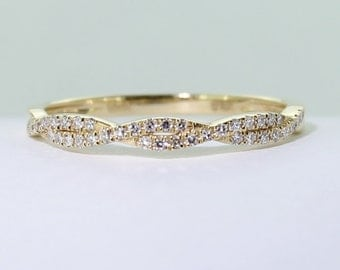 18ct yellow gold and 38 diamond wedding band  solid gold Certified FGAA