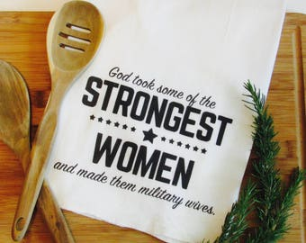 Tea Towel- Military Gift- Military Wife Gift