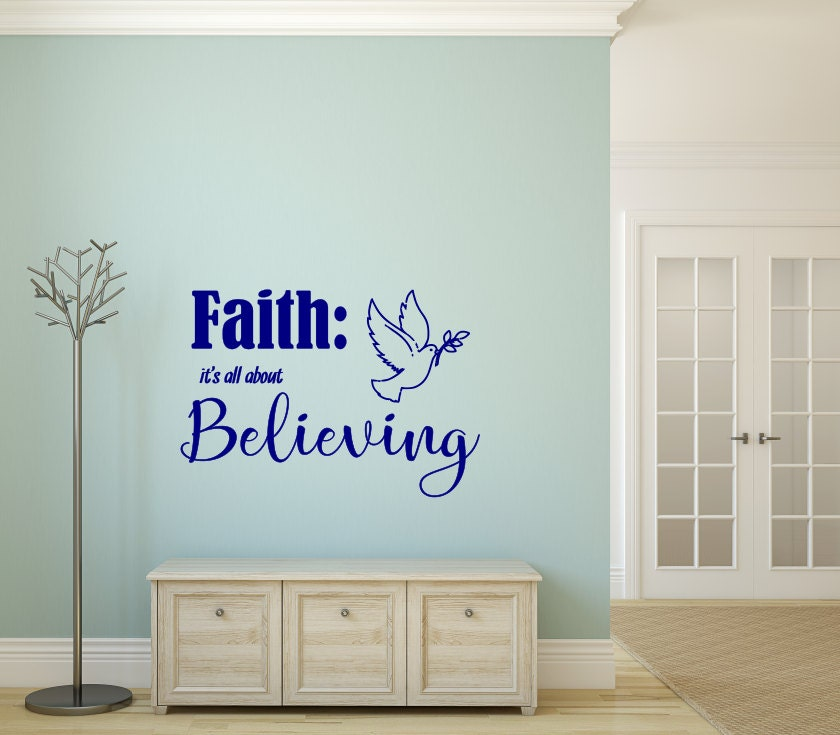 Faith All About Believing Religious Wall Decor Christian Wall Art