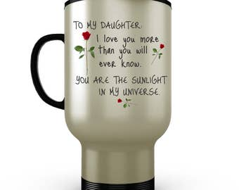 Daughter Mug, daughter gifts from mom, step daughter gift, daddys little girl, father daughter gift, daughter from mom, father daughter, mug
