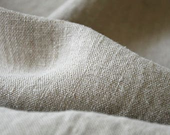 Linen fabric, washed linen, 190gsm. Natural gray color. Linen fabric by the meters, linen by the yard. For clothes and other textile