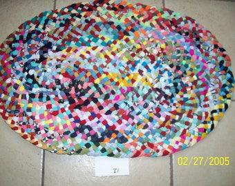 Multi-Color Oval Rug