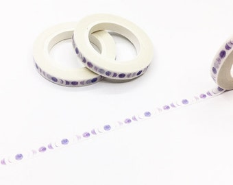 Slim Moon -Girls Washi Tape/Purple Set