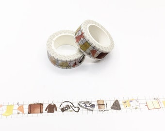 Travel Items Washi Tape - Planner/Journal/Travel Notes Series