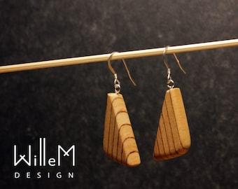 Earrings Wood Silver - Holzschmuck - Ohrringe aus Holz