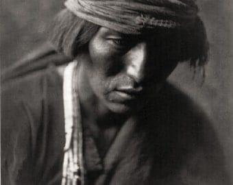 Native American Edward Curtis Medicine Man Photo Art Print Picture A4