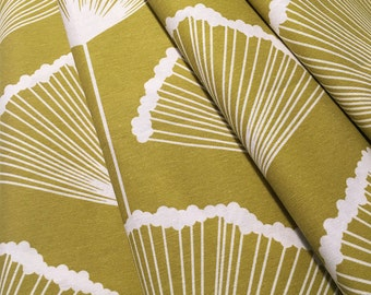 Floral Curtains- Custom Curtains- Yellow Curtains- Mustard Yellow- Curtains- Cotton Curtains- Ginkgo- Window Curtains- Curtain Panels