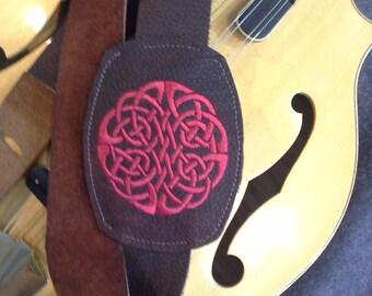 "Celtic Knot Mandolin Strap ""Cheilteach"""