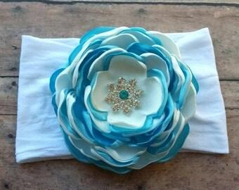 blue nylon headband - baby  nylon headband - blue headband - baby headband - nylon headband - birthday headband - new year's Nylon headband