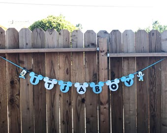 It's a Boy Baby Mickey banner