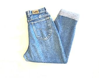 LEE Mom Jeans High Waist Tapered Leg Women's Denim Jeans Size 12 Petite 27X27