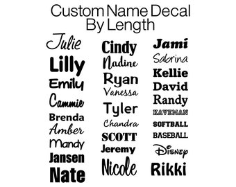 Name Decal | Name Vinyl Decal | Vinyl Decal | Vinyl Monogram Decal | Custom Vinyl Name Decal | Vinyl for Crafts | Monogram Decal | Length