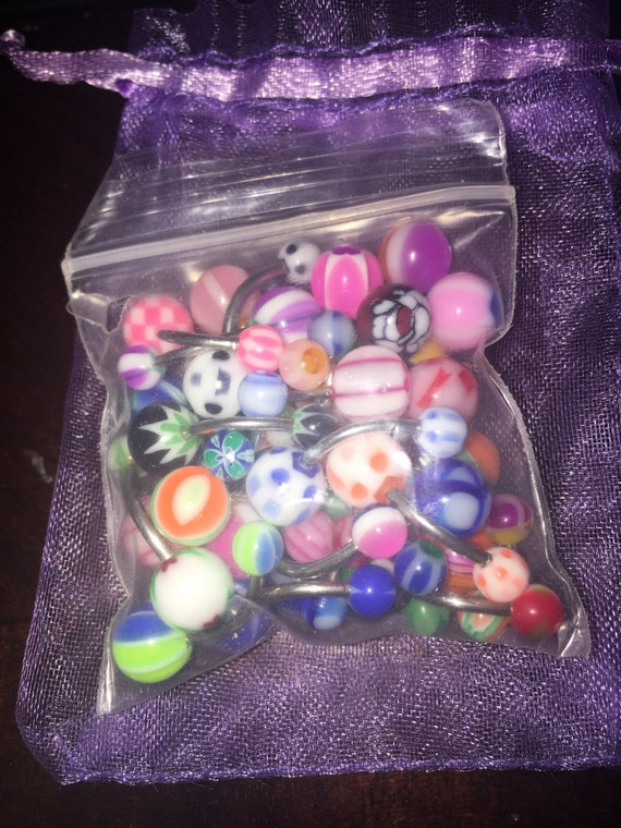 30 assorted belly rings