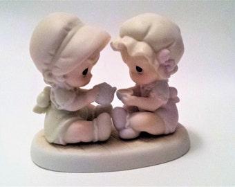 "1997 Precious Moments Figurine, Precious Moments ""Friendship Hits The Spot"" Figurine, Precious Moments, Collectible Figurines, Gift, 306916"