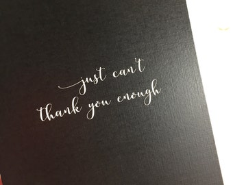 Thank you cards/Thank you notes/Wedding thank you cards/Mix and Match Cards/just can't thank you enough
