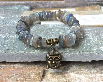 Buddha meditation bracelet Labradorite imagination creativity