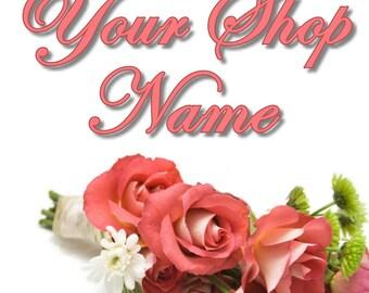Rose Banner, Floral Banner Set, Shop Banner Set, Shop Banner, Banner Set, Banner Design, Custom Banner, Cover Photo, Premade Banner,