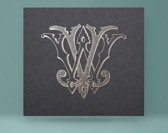 Vintage monogram WV - VW | Wedding Monogram
