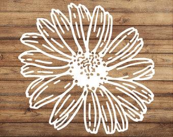 Daisy Decal | Flower Sticker | Pretty Gerber Daisy | Lovely Decal | Garden Decor | Beautiful Gift | Unique | Car Decal | Yeti | Door Decal