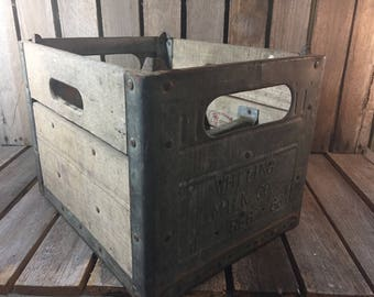 Vintage Milk Crate/Wood Milk Crate/Milk Crate