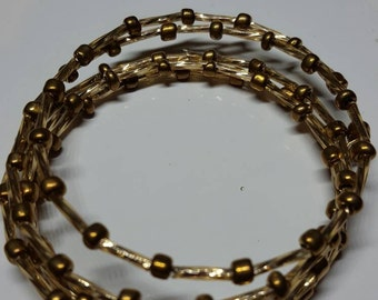 Gold memory wire bracelet