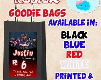 Roblox Goodie Bags, Roblox Candy Bags, Roblox Party Favor Bags