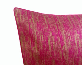 Pink and Gold Pillow Cover/ Pillow case / Royal & Classy Cushion Cover/ Pink decorative pillow/ textured pillow cover/ stylish pillow cover